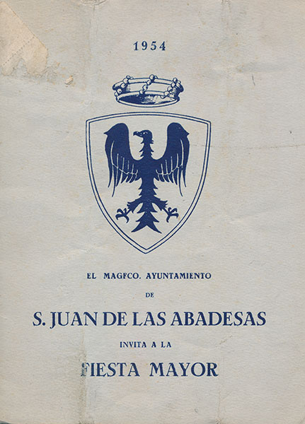 1954 PROGRAMA FESTA MAJOR